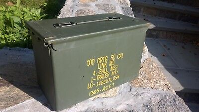 US MILITARY ISSUE 50 CAL AMMO CAN BOXS (M2A1) .50 caliber surplus ammo cans