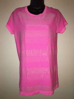 LULULEMON ATHLETICA Women's Yoga Short Sleeve T Shirt Size10 Pink