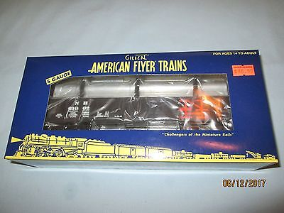 American Flyer by Lionel #6-48879 New Haven Gondola with Pipes #61002 NIB