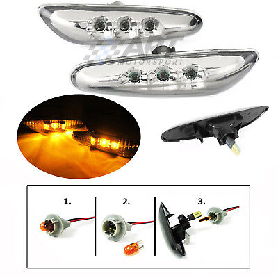Intermitentes laterales led con acabado claro para Bmw E46 SEDAN 01-05 restyling