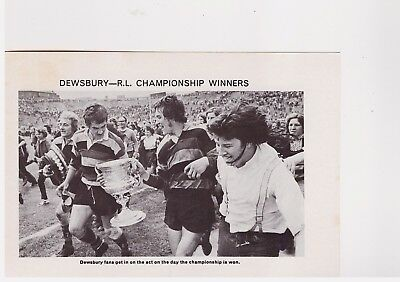 Team Pic from 1973-74 FOOTBALL Annual - FEATHERSTONE + DEWSBURY - Rugby League