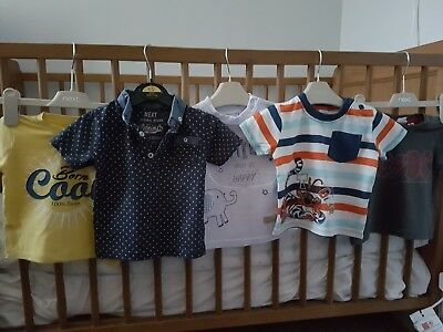 Next bundle of boy t-shirts age 6-9 months in excellent condition Next! 7