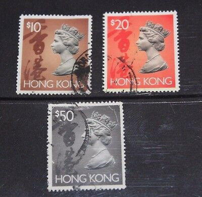 Hong Kong 1992  High Value Queen Elizabeth Issues Fine Used