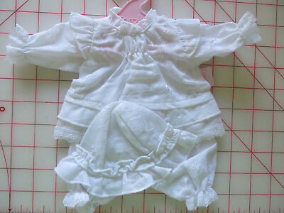 """COROLLE """"GROW WITH COROLLE"""" Dress, Bloomers, Hat Set -12"""" 30 cm 18+ mo DOLL NIP"""