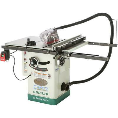 "G0833P Grizzly 10"" Hybrid Table Saw with Riving Knife, Polar Bear Series"