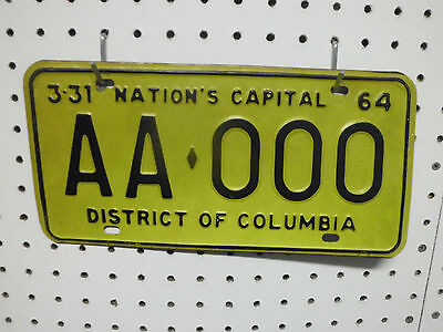 1964 Washington DC Sample License Plate