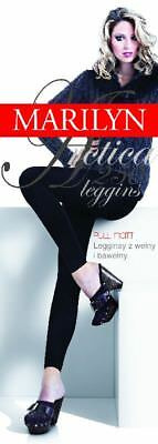 Extra WARM LEGGINS ARCTICA 250den Leggings with WOOL and COTTON BLACK:S/M M/L