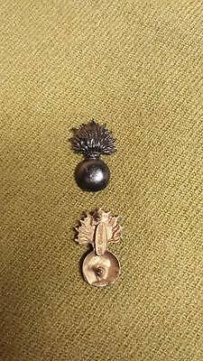 WWI US Army Officer Ordnance Corps Insignia Pins, One Pair