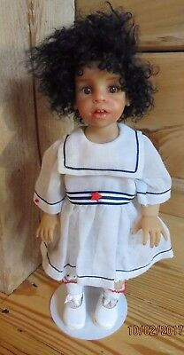 "Lumicast Beauty Carole Bowling NIADAArtist Original Doll 14"" with Sailor Dress"