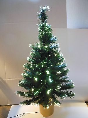 "CHRISTMAS / HOLIDAY / XMAS 32"" FIBER OPTIC TREE w/ CONTINUOUS COLOR CHANGES"