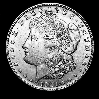 1921 S ~**ABOUT UNCIRCULATED AU**~ Silver Morgan Dollar Rare US Old Coin! #155