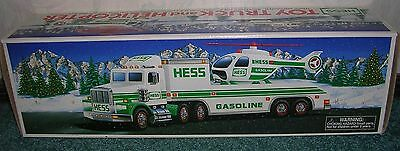 1995 Hess Toy Truck With Helicopter Nib Hess Holiday Tradition