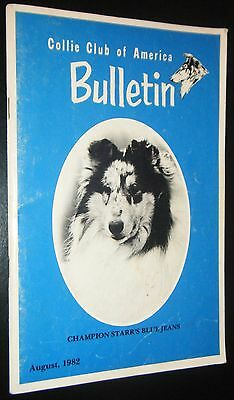 Collie Club of America Bulletin August 1982 Greed Champion Breed Photographs