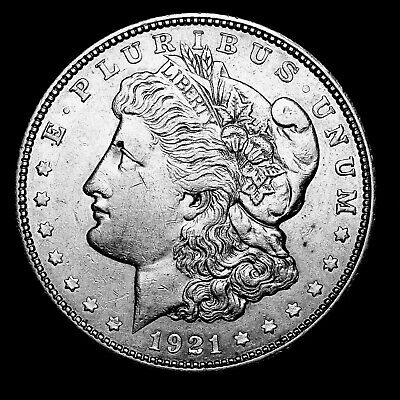 1921 D ~**ABOUT UNCIRCULATED AU**~ Silver Morgan Dollar Rare US Old Coin! #157