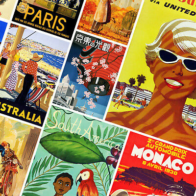Luxury Vintage Worldwide Travel Posters - A3 A4 - FREE Shipping - TRA