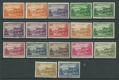 Norfolk Isl. 1947-59 set to 2/- incl. White papers SG1-12a, fine used, C.£260.