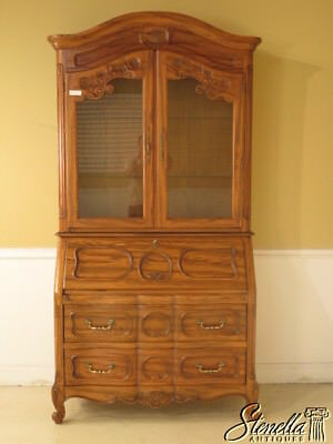 23463: HEKMAN Country French Style Oak Secretary Desk