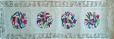 Papel Amate with Otomi Embroidery-Unframed