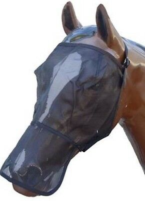 Horse Fly Mask Close Fitting Mesh With Nose Protector - All Sizes~BACK IN STOCK!