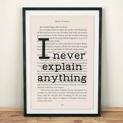 Mary Poppins Book Page Art Just A Spoon-Full Of Sugar Print Quote