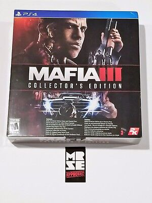 Mafia 3 III Collector's Edition PS4 (PlayStation 4) New Sealed