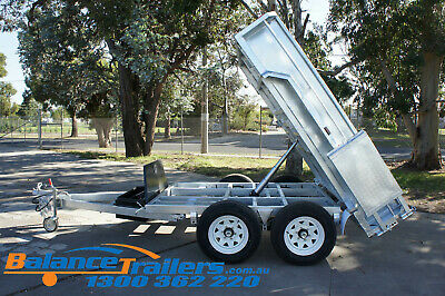 8x5 HEAVY DUTY GALVANISED HYDRAULIC TANDEM TIPPER TRAILER ATM 3.0T 3000kg