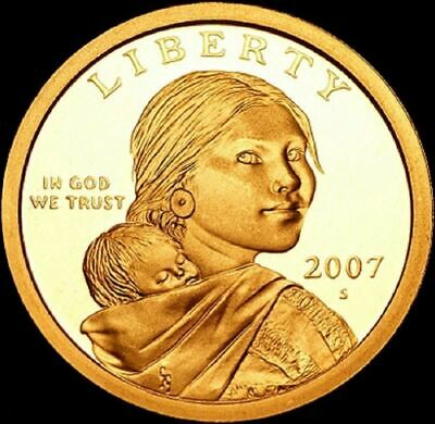 "2007 S Sacagawea Dollar ""Imperfect"" PROOF US Mint Coin (Discounted!)"