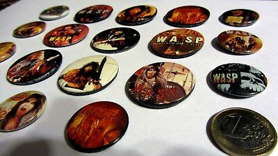 WASP 18 Badges pin button   (Blackie Lawless+Сhris Holmes) EX