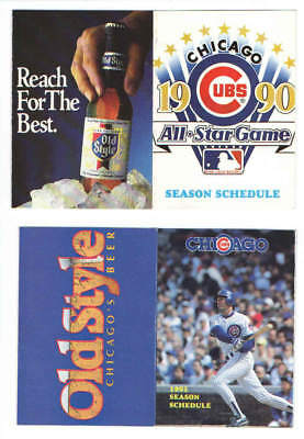 1990 Chicago Cubs Mlb Baseball Pocket Schedule