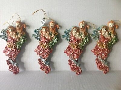 Lot of 4 Christmas Nativity Ornaments