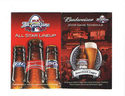 2009 St Louis Cardinals Mlb Baseball Pocket Schedule Budweiser