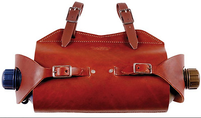 Double Water Bottle Holder Leather Saddlery Mustering