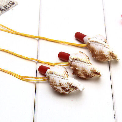 1 Pc Conch Horn Whistle Natural Shell Pendant Children Kids Educational Toys ATA