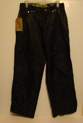 Vintage Sindrom Black zipper Pants From The 90s , size 32