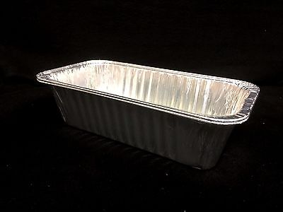 16 Foil Loaf Bread Cooking Tray Food Container Roasting BBQ Trays 32x16.5x8.5cm