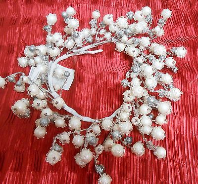 "Pier  1 Icy Berry Mini Wreath Garland 20"" long New with Tag"