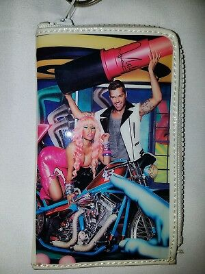 RARE MAC Cosmetics Viva Glam Nicki Minaj & Ricky Martin Limited Edition Wallet