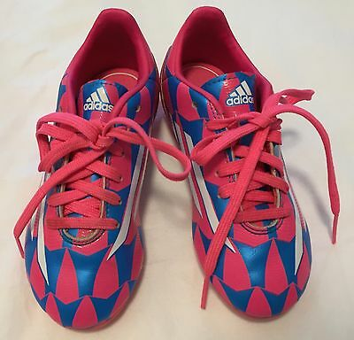 Adidas Girls Toddler Soccer Shoes size US 11T Neon Pink