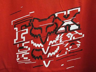 Nwt - Boy's Fox Tee Shirt- Color: Red S/s Cotton #03471  Size: Large  $17.50