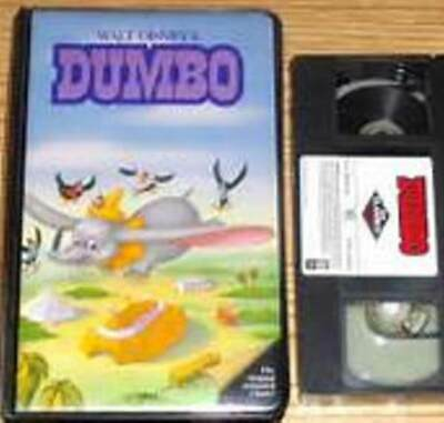 VERY RARE-WALT DISNEY'S- BLACK DIAMOND--#24V- Dumbo (VHS) CLAMSHELL