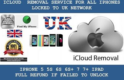 ICLOUD REMOVAL SERVICE FOR ALL UK APPLE DEVICE INCLUDES iPhone 7 7Plus 7+