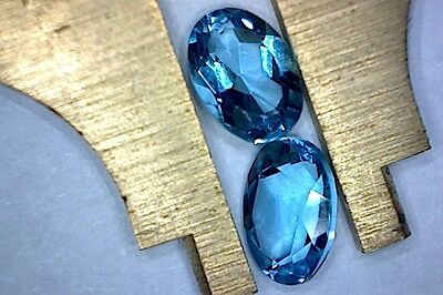 ZIRCON NATURAL MINED SPECIMENS x 2  TOTAL 1.87Ct  MF8441