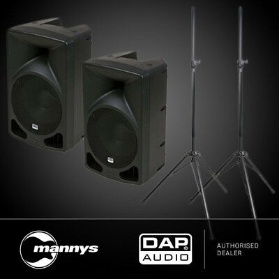 "DAP Audio Splash 10A Pack: 2 x Active 10"" Speakers w/ Stands"