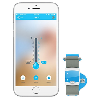Smart Medical Baby Thermometer  Fever Monitoring with Mobile Alerts for Baby