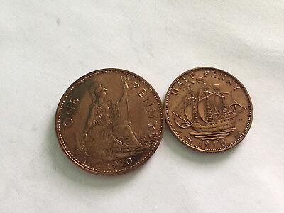 1970 ROYAL MINT PROOF PENNY and HALFPENNY