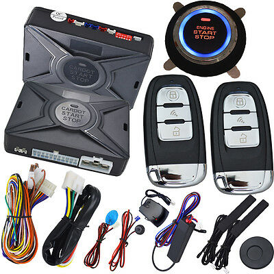 car alarm systems with remote start with RFID emergency unlock keyless entry