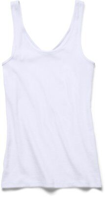 Under Armour UA Double Threat Tank Women's Fitness T-Shirt White white Size:L