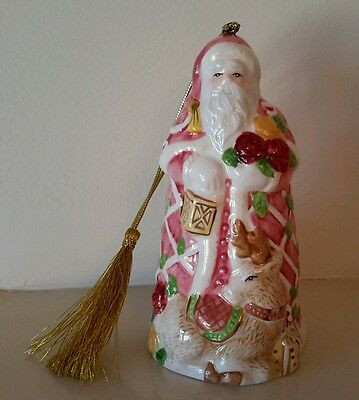 Royal Albert Seasons of Colour . Old Country Roses Father Christmas Santa Bell