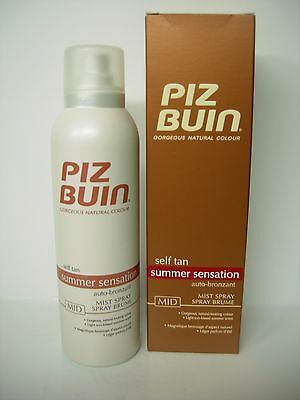 Piz Buin Self Tan Autobronzants Spray Corps Mid 150 Ml
