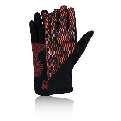Ronhill Womens Wind Block Running Gloves Full Fingers Black Pink Red